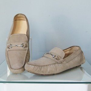Cole Haan Driving Shoes Taupe Mocassin Bit Details